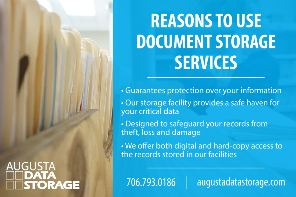 • Guarantees protection over your information • Our storage facility provides a safe haven for your critical data • Designed to safeguard your records from theft, loss and damage • We offer both digital and hard-copy access to the records stored in our facilities